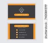 vector design of modern black... | Shutterstock .eps vector #740084599