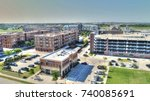 new downtown frisco texas from... | Shutterstock . vector #740085691
