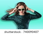 listen. | Shutterstock . vector #740090407