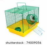Cage For A Hamster On A White...