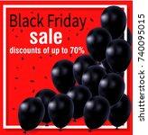 black friday  balls  vector... | Shutterstock .eps vector #740095015