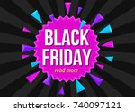 black friday  sale poster... | Shutterstock .eps vector #740097121