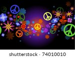 flowers and peace   raster | Shutterstock . vector #74010010