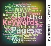 text cloud. seo wordcloud....   Shutterstock .eps vector #740100415