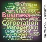 text cloud. business wordcloud. ... | Shutterstock .eps vector #740100421