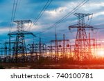 distribution electric... | Shutterstock . vector #740100781