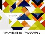 triangle pattern design... | Shutterstock .eps vector #740100961