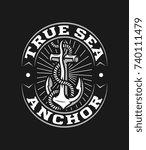 white on black vector true sea...   Shutterstock .eps vector #740111479