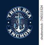 colored vector true sea anchor...   Shutterstock .eps vector #740111524