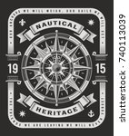 vintage nautical heritage... | Shutterstock .eps vector #740113039