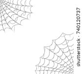 halloween decorations cobwebs... | Shutterstock .eps vector #740120737