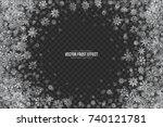 realistic vector winter silver... | Shutterstock .eps vector #740121781