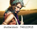 magnificent gypsy fortune... | Shutterstock . vector #740122915