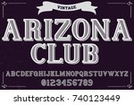 vintage font handcrafted vector ... | Shutterstock .eps vector #740123449