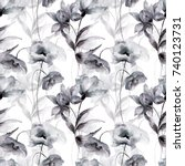 seamless pattern with... | Shutterstock . vector #740123731