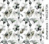 seamless wallpaper with summer...   Shutterstock . vector #740123734