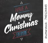 typographic christmas design  ... | Shutterstock .eps vector #740124445