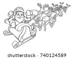 an illustration of santa claus... | Shutterstock .eps vector #740124589