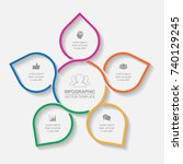 vector infographic template for ... | Shutterstock .eps vector #740129245