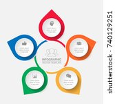 vector infographic template for ... | Shutterstock .eps vector #740129251