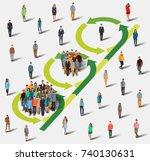 inviting people to the project. ... | Shutterstock .eps vector #740130631