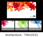 set with four vector... | Shutterstock .eps vector #74013151
