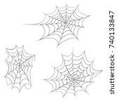 illustration the old spider web ... | Shutterstock .eps vector #740133847