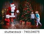 miracles happen. small children ... | Shutterstock . vector #740134075
