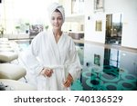 portrait of beautiful young...   Shutterstock . vector #740136529