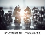 chess board game for ideas and... | Shutterstock . vector #740138755