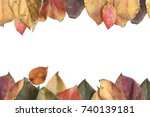 Small photo of Autumn concept made with leaves. Flat layman. Season concept.