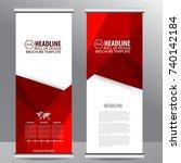 roll up business brochure flyer ... | Shutterstock .eps vector #740142184