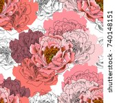 vector seamless pattern with... | Shutterstock .eps vector #740148151