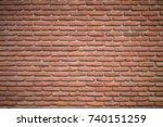 old vintage brick wall grunge... | Shutterstock . vector #740151259