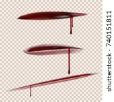 realistic set of cuts. using...   Shutterstock .eps vector #740151811