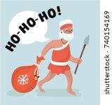 vector cartoon illustration of... | Shutterstock .eps vector #740154169
