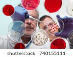 scientists researching in... | Shutterstock . vector #740155111