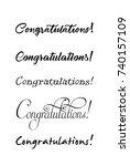 congratulations lettering.... | Shutterstock .eps vector #740157109