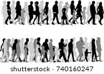 group of people. crowd of... | Shutterstock .eps vector #740160247