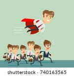 illustration of businessman... | Shutterstock .eps vector #740163565