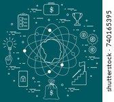 illustration of business... | Shutterstock .eps vector #740165395