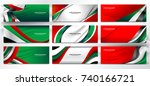 national flag of united arab... | Shutterstock .eps vector #740166721