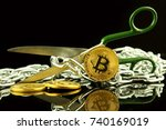 physical version of bitcoin ... | Shutterstock . vector #740169019
