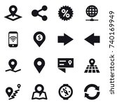 16 vector icon set   pointer ... | Shutterstock .eps vector #740169949