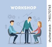 workshop concept illustration.... | Shutterstock .eps vector #740170765