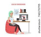 ux and ui female designer at...