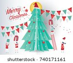 christmas card concept and...   Shutterstock .eps vector #740171161