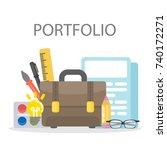 portfolio of designer.... | Shutterstock .eps vector #740172271