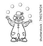 clown  vector  outline...   Shutterstock .eps vector #740176924