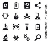 16 vector icon set   search... | Shutterstock .eps vector #740184985